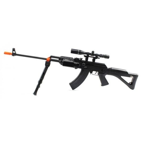 Military AK-47 Spring Airsoft Gun Flashlight Bipod FPS-230