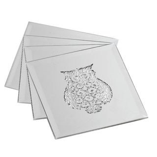 Allure Silver Owl Coasters (Set of 4)