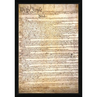 US Constitution Contemporary Framed Poster