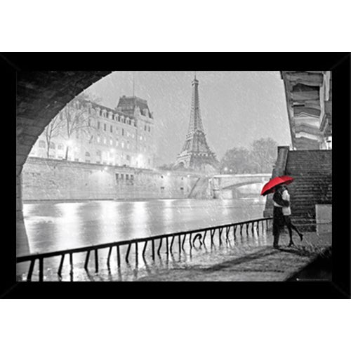 Shop Eiffel Tower Kiss Poster (24-inch x 36-inch) with Contemporary ...