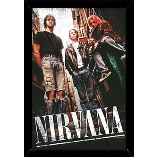 Nirvana Alley Poster (24-inch x 36-inch) with Contemporary Poster Frame