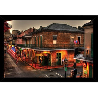 Evening On Bourbon Poster (24-inch x 36-inch) with Contemporary Poster Frame