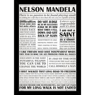 Nelson Mandela Quotes Poster (24-inch x 36-inch) with Contemporary Poster Frame
