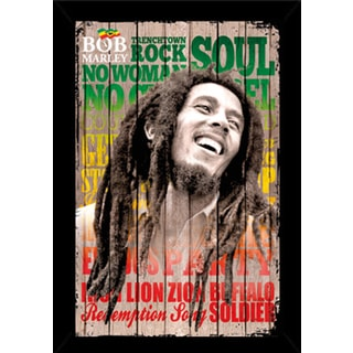 Bob Marley Laugh Poster (24-inch x 36-inch) with Contemporary Poster Frame