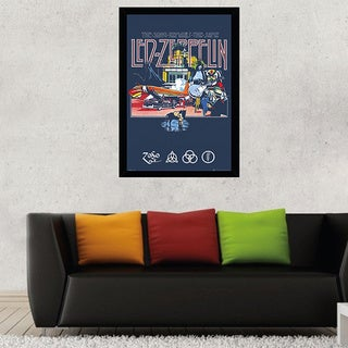 Led Zeppelin Remains Poster (24-inch x 36-inch) with Contemporary Poster Frame