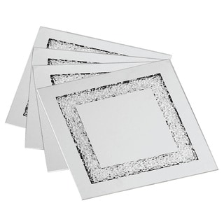 Allure Sparkles Square Coasters (Set of 4)