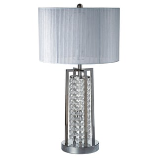 Journee Home 'Grace' 28 inch Crystal Pillar Table Lamp