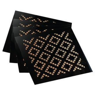 Allure Diamond Gold Coasters (Set of 4)