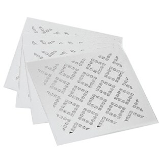 Allure Diamond Silver Square Coasters (Set of 4)