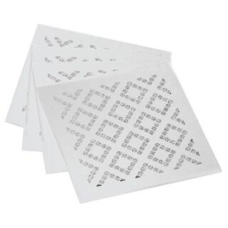 Allure Diamond Silver Square Coasters (Set of 4)