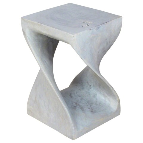Handmade Agate Grey Oil Twist Stool (Thailand)