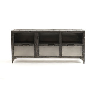 Antique Nickel Media Console