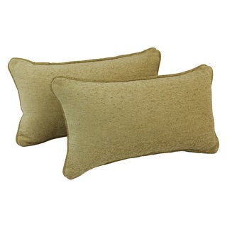 Blazing Needles Corded Macaroon Jacquard Chenille Rectangular Throw Pillows (Set of 2)