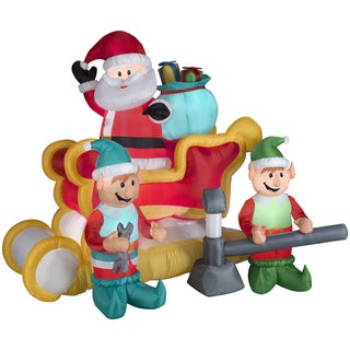 Animated Santa With Sleigh Indoor/ Outdoor Inflatable