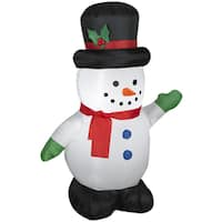 Snowman with Holiday Top Hat Indoor/ Outdoor Inflatable