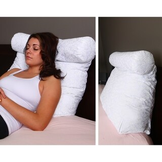 Lounger Support Pillow with Neck Roll for Reading or Bed Rest