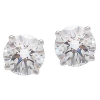 Blue Nile 18k White Gold 1 1/2ct TDW Diamond Estate Stud Earrings (G-H, SI1-SI2)|https://ak1.ostkcdn.com/images/products/10476158/P17565634.jpg?impolicy=medium