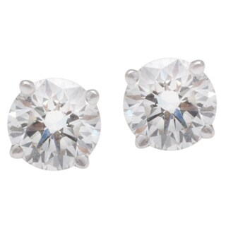 Blue Nile 18k White Gold 1 1/2ct TDW Diamond Estate Stud Earrings (G-H, SI1-SI2)