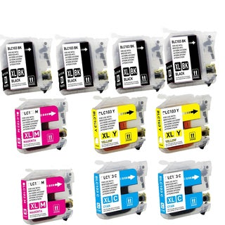 Brother LC103 BK XL LC103 C XL LC103 M XL LC103 Y XL Compatible Inkjet Cartridge (Pack of 10)