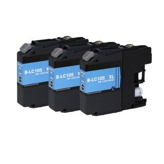 Brother LC105 C XL Compatible Inkjet Cartridge for MFCAN-J4410 J4110 J4510 J4610 J4710 J2510 (Pack of 3)