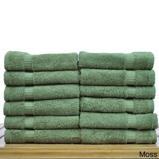 Luxury Hotel & Spa Towel 100-percent Genuine Turkish Cotton Washcloths (Set of 12)