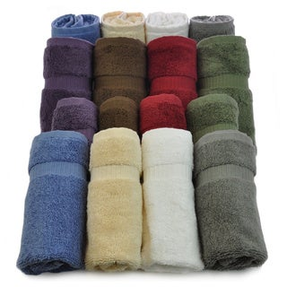 Luxury Hotel & Spa Towel 100-percent Genuine Turkish Cotton Washcloths (Set of 12)