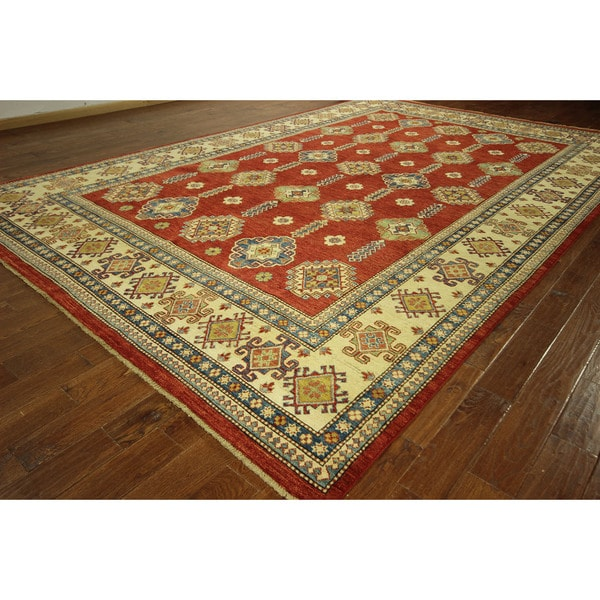 Persian Red Vegetable Dyed Kazak Hand Knotted Wool