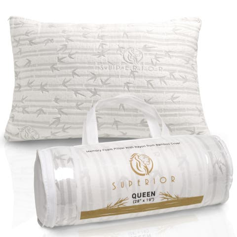 Superior Shredded Memory Foam Pillow with Rayon from Bamboo Cover