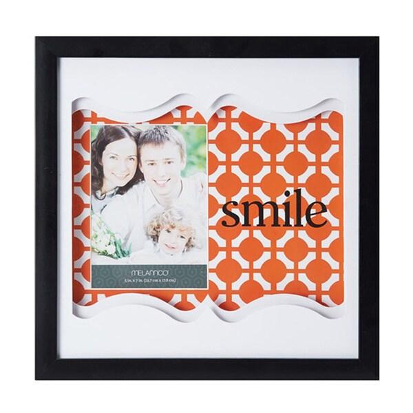 Melannco Coral Smile Color Paper Art Shadow Box Picture