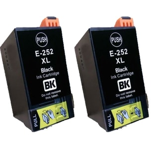 Epson T252XL BK Compatible Inkjet Cartridge for 3620 3640 7110 7610 7620 (Pack of 2)