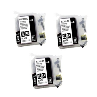 Brother LC103 BK XL Compatible Inkjet Cartridge for MFCAN-J4410DW MFCAN-J4510DW (Pack of 3)