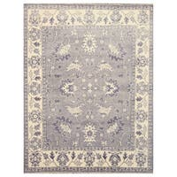 Hand-knotted Wool Gray Traditional Oriental Mono Rug - 8' x 10'