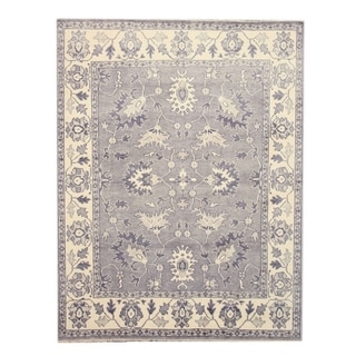 EORC Hand Knotted Wool Grey Mono Rug (9' x 12')