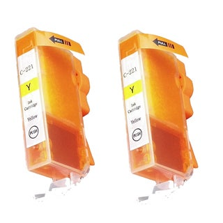 Canon CAN-211Y Yellow Compatible Inkjet Cartridge for Canon S400 S450 (Pack of 2)