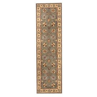 Herat Oriental Indo Hand-tufted Mahal Wool Runner (2'4 x 8'3)