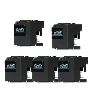 Brother LC205 C XXL Compatible Inkjet Cartridge for MFC-J4625DW MFC-J5320DW MFC-J5620DW MFC-J5625DW MFC-J5720DW (Pack of 5)