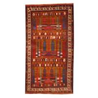 Herat Oriental Afghan Hand-knotted Tribal Balouchi Wool Rug (2'8 x 4'10) - 2'8 x 4'10