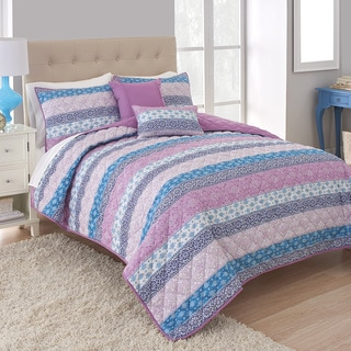 Martex Boho Stripe 5-piece Quilt Set