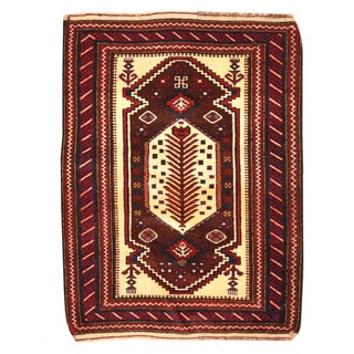 Herat Oriental Afghan Hand-knotted Tribal Balouchi Wool Rug (3'2 x 4'2)
