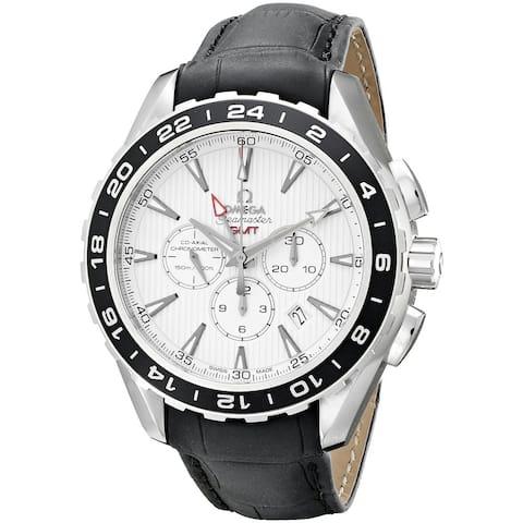 Omega Men's O23113445204001 'Seamaster' Chronograph Automatic Black Leather Watch