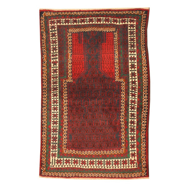 Herat Oriental Afghan Hand-knotted Tribal Balouchi Wool
