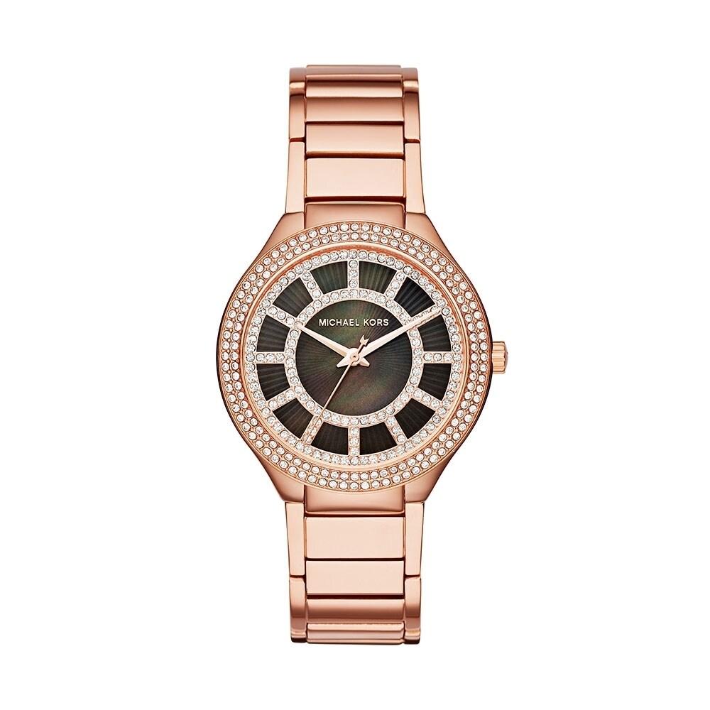 Michael Kors Womens MK3397 Kerry Crystal Rose-Tone Stainless Steel Watch Michael Kors Womens MK3397 Stainless steel