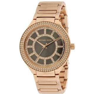 Michael Kors Women's MK3397 'Kerry' Crystal Rose-Tone Stainless Steel Watch