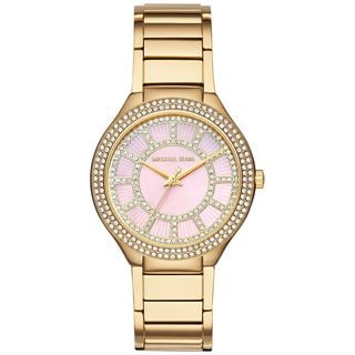 Michael Kors Women's MK3396 'Kerry' Crystal Gold-Tone Stainless Steel Watch