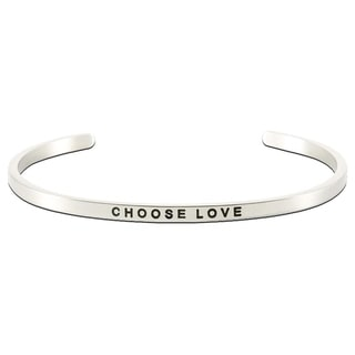 Carolina Glamour Collection Stainless Steel 'Choose Love' Message Stackable Bangle