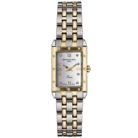 Raymond Weil Women's 5971-STP-00995 'Tango' 18 kt Yellow Gold Diamond Two-Tone Stainless Steel Watch