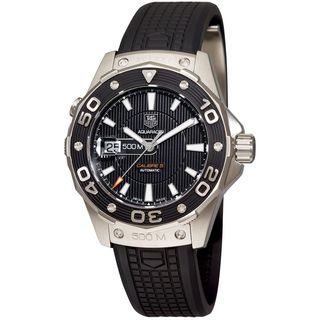 Tag Heuer Men's WAJ1110.FT6015 'Aquaracer' Black Rubber Watch