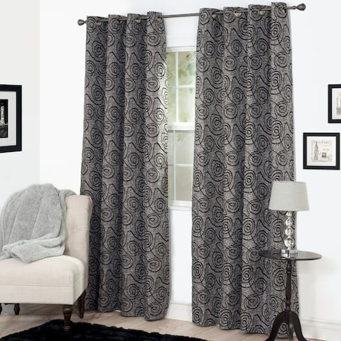 Windsor Home Joy Jacquard Curtain Panel - 53 x 84 - 53 x 84
