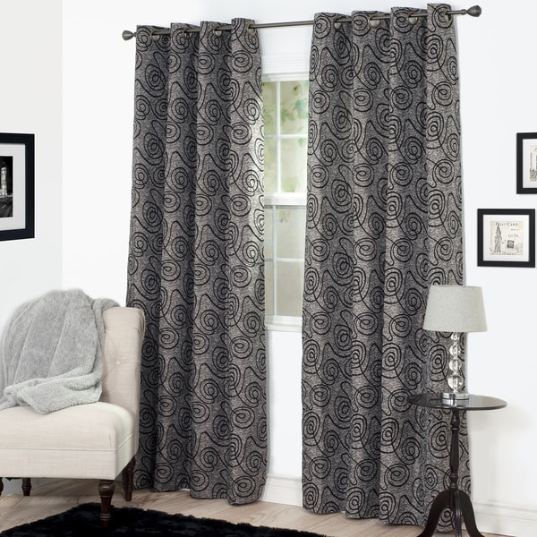 Windsor Home Joy Jacquard Curtain Panel - 53 x 84 - 53 x 84. Opens flyout.
