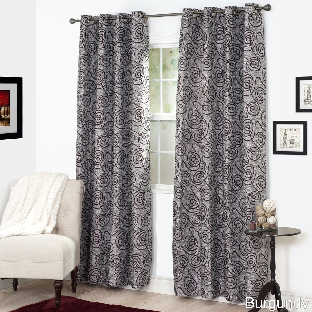Shop Windsor Home Joy Jacquard Curtain Panel - 53 x 84 - 53 x 84 - 10476693